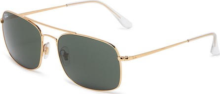 Ray Ban 'RB3611' double bridge metal square sunglasses