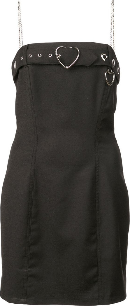 Adam Selman Belted neck strapless dress