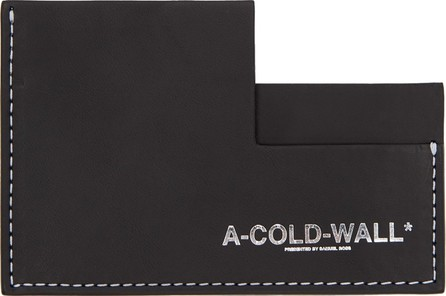 A-Cold-Wall* Black Right Angle Card Holder