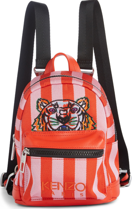 KENZO Mini Kanvas Embroidered Tiger Stripe Backpack