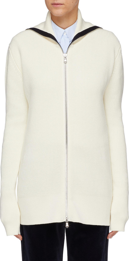 Barena 'Merinos' sailor collar wool rib knit cardigan