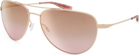 Barton Perreira Five-Star Mirrored Aviator Sunglasses, Rose Gold