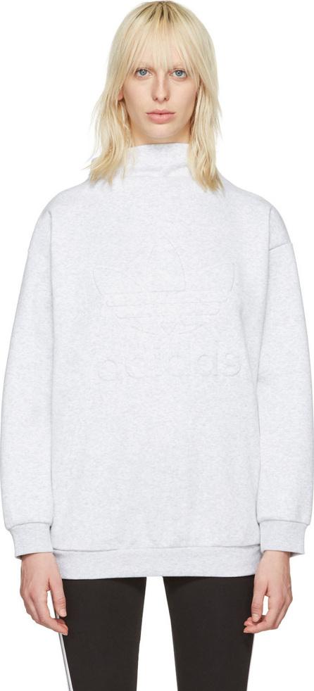 Adidas Originals Grey Standing Collar Pullover