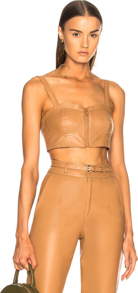 Zeynep Arcay Leather Bustier