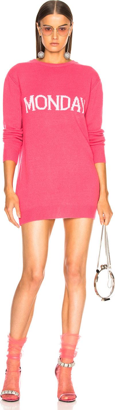 Alberta Ferretti Tuesday Crewneck Sweater Dress