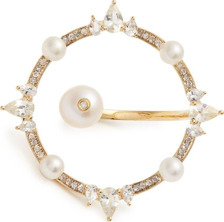 Anissa Kermiche Diamond, pearl & yellow-gold ring