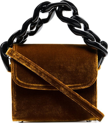 Marques'Almeida Chain-embellished velvet cross-body bag