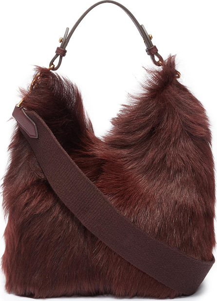 Anya Hindmarch 'Build A Bag' mini shearling and leather crossbody bag