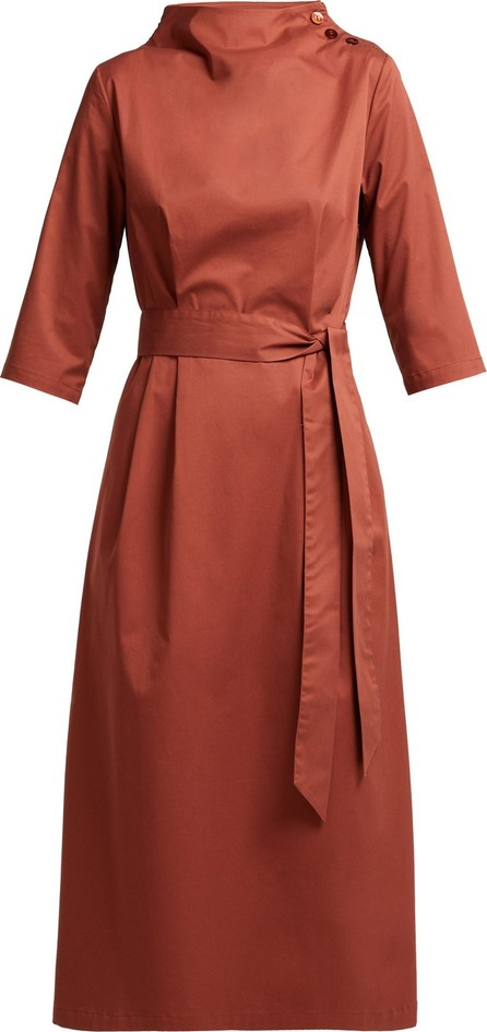 Albus Lumen Nina belted cotton dress