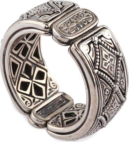Konstantino Men's Zeus Sterling Silver Band Ring