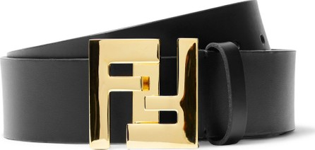 Fendi 3.5cm Black Leather Belt