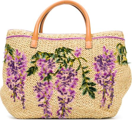 Ermanno Scervino Floral embroidered tote bag