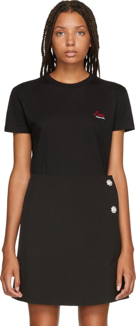 Miu Miu Black 'Love' T-Shirt