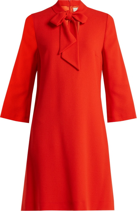 Goat Ginny neck-tie wool-crepe dress