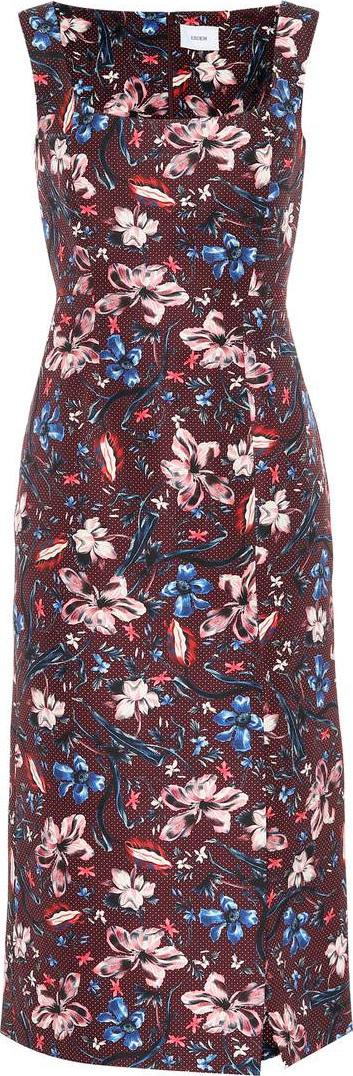 Erdem Arlie floral wool-blend dress