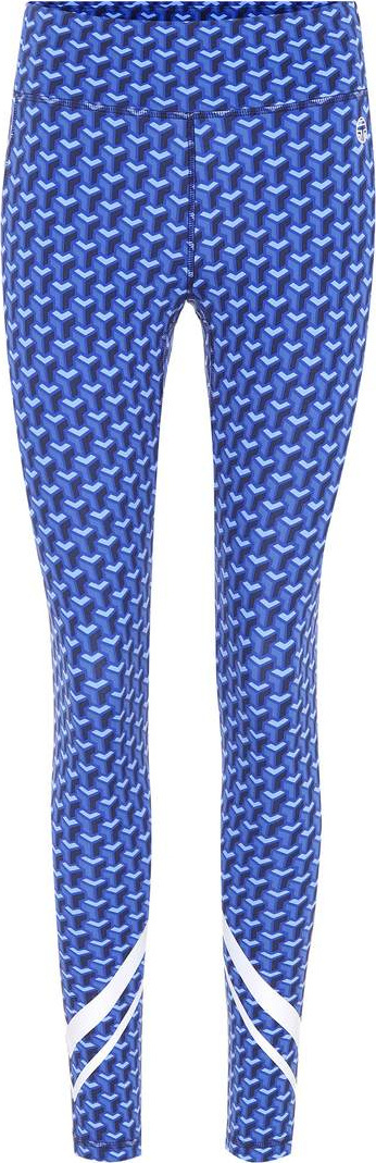 Tory Sport Printed chevron leggings