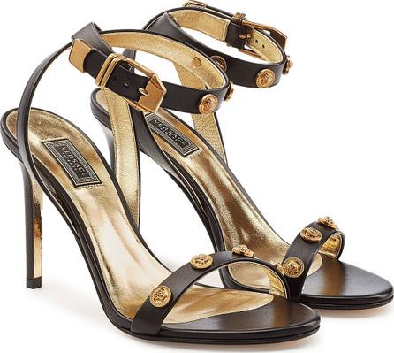 Versace Embellished Leather Sandals