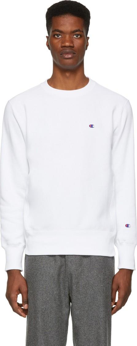 Champion Reverse Weave White Logo Sweatshirt