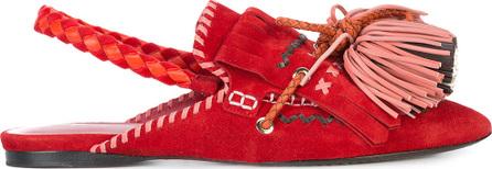 Carven Slingback tassel slippers