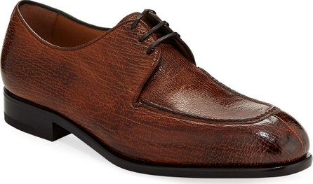 Salvatore Ferragamo Men's Pavia Special Edition Lace-Up Sharkskin Shoe