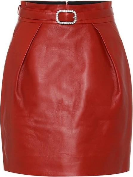 Alexandre Vauthier High-rise leather miniskirt