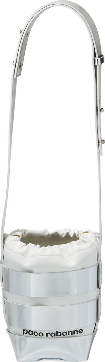 Paco Rabanne Cage Mini Mirrored Hobo Bag, Silver