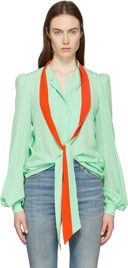 Givenchy Green & Orange Tie Shirt