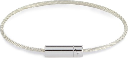 Le Gramme 'Le 7 Grammes' polished sterling silver cable bracelet