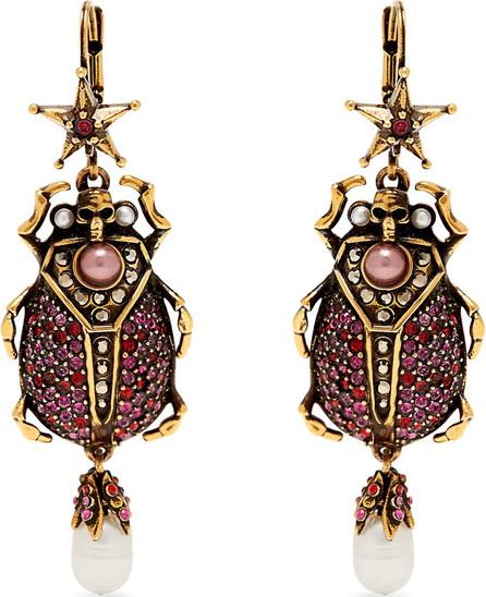 Alexander McQueen Crystal-embellished beetle-drop earrings