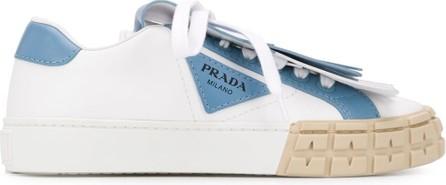 Prada Fringed flap sneakers