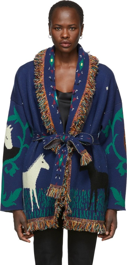 Alanui Blue Horses In Love Cardigan