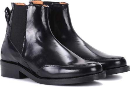 Ganni Violet leather Chelsea boots