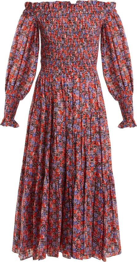 Rebecca Taylor Cosmic off-shoulder floral-print dress