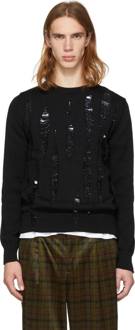 Comme des Garçons Homme Deux Black Distressed Sweater
