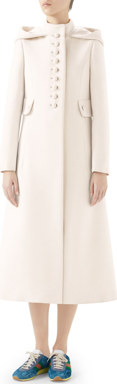 Gucci Wool Long Hooded Coat