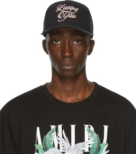 Amiri Black 'Loving You' Cap