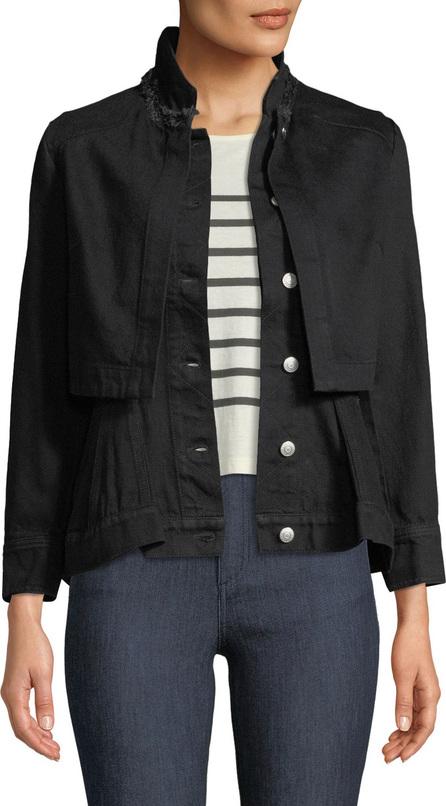Alexander McQueen Button-Front Long-Sleeve Layered Denim Jacket
