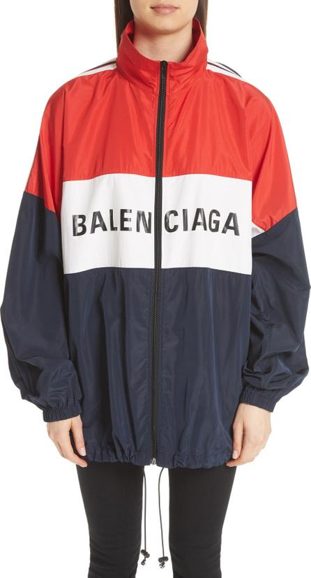 Balenciaga Logo Colorblock Windbreaker Jacket