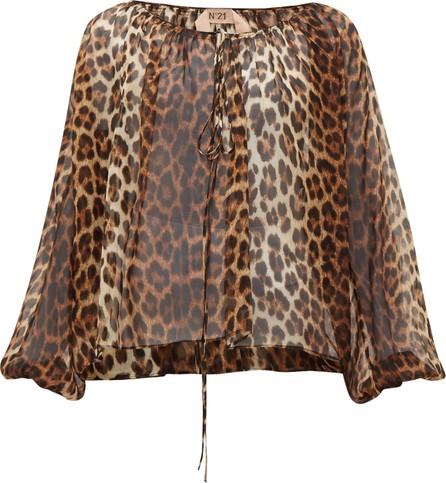 Nº21 Leopard-print silk blouse