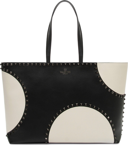Valentino Rockstud Large Dot Leather Tote