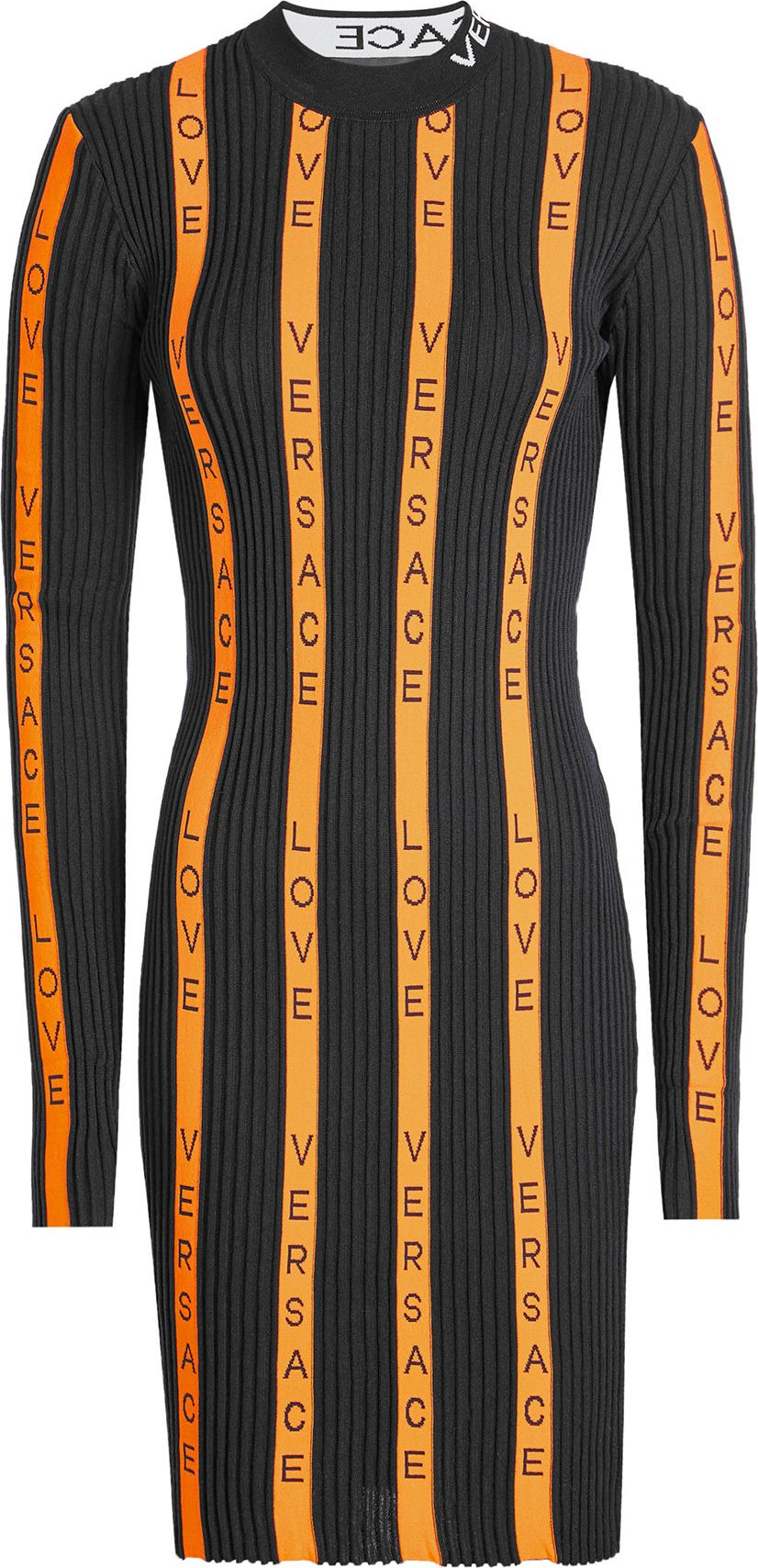 Versace - Logo Dress with Wool
