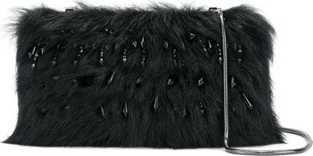 Alberta Ferretti faux fur clutch