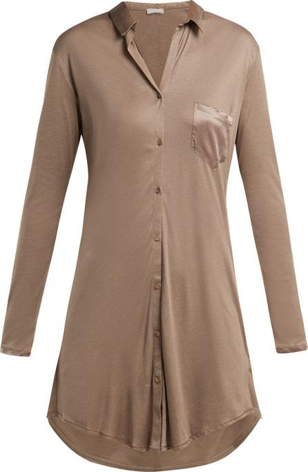 Hanro Grand Central patch-pocket jersey nightdress