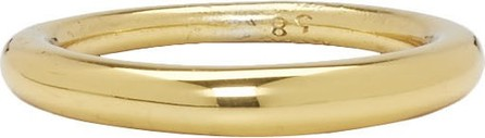 All Blues Gold Polished Hungry Snake Ring