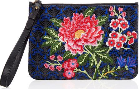 Liberty London Elysian Embroidery Wristlet Bag