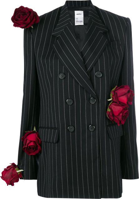 Seen Pinstriped rose blazer