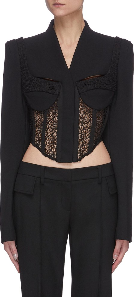 Dion Lee Lace corset tailored crop jacket
