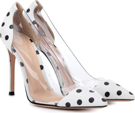 Gianvito Rossi Plexi polka-dot leather pumps