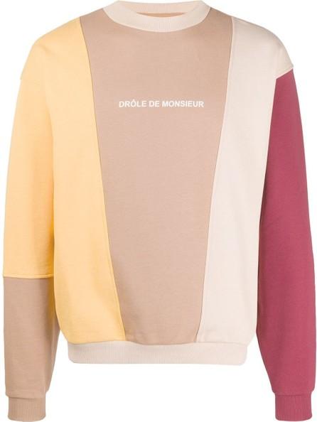 Drôle De Monsieur Colour block logo sweatshirt