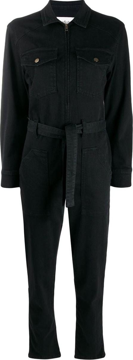 ba&sh Watery long sleeve denim jumpsuit